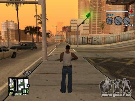 C-HUD Universal v3 pour GTA San Andreas quatrième écran