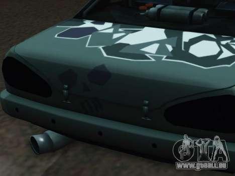 Elegy Korch pour GTA San Andreas vue arrière