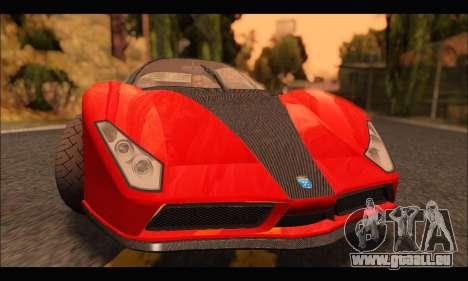 Grotti Cheetah v3 (GTA V) pour GTA San Andreas laissé vue