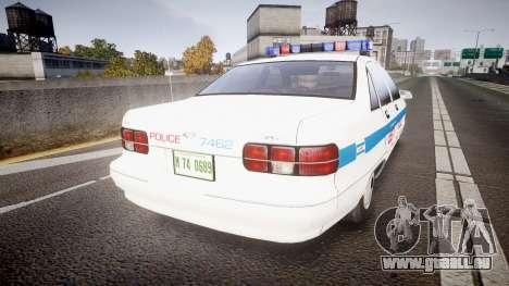 Chevrolet Caprice Liberty Police [ELS] für GTA 4 hinten links Ansicht