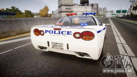 Invetero Coquette Police Interceptor [ELS] pour GTA 4 Vue arrière de la gauche