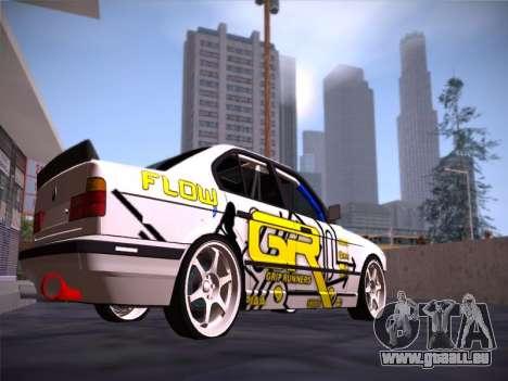 BMW M5 E34 Grip Runners Team pour GTA San Andreas vue de droite