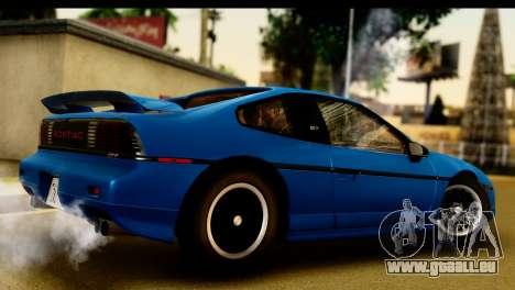 Pontiac Fiero GT G97 1985 IVF pour GTA San Andreas vue de droite