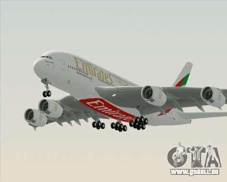 Airbus A380-800 Emirates (A6-EDH) pour GTA San Andreas laissé vue