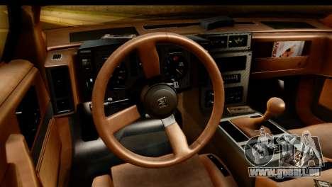Pontiac Fiero GT G97 1985 IVF pour GTA San Andreas vue arrière