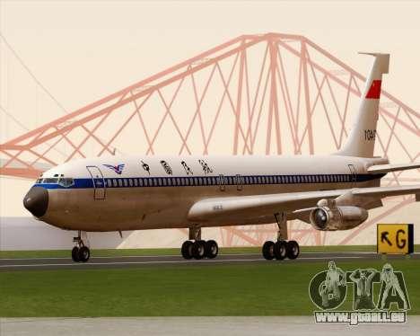 Boeing 707-300 CAAC für GTA San Andreas linke Ansicht