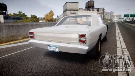Dodge Dart HEMI Super Stock 1968 rims1 für GTA 4 hinten links Ansicht