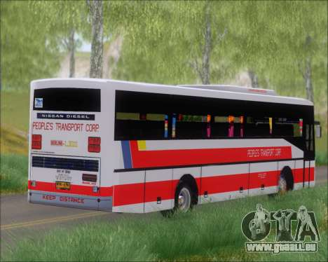 Nissan Diesel UD Peoples Transport Corporation für GTA San Andreas Innenansicht