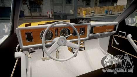 Ford Fairmont 1978 Taxi v1.1 pour GTA 4 Vue arrière