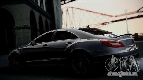 Mercedes-Benz CLS 63 AMG pour GTA San Andreas sur la vue arrière gauche
