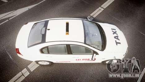 Holden Commodore Omega Queensland Taxi v3.0 für GTA 4 rechte Ansicht
