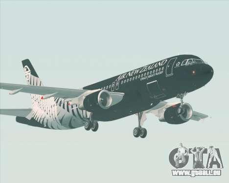 Airbus A320-200 Air New Zealand für GTA San Andreas Rückansicht