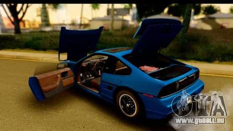 Pontiac Fiero GT G97 1985 IVF pour GTA San Andreas vue de côté