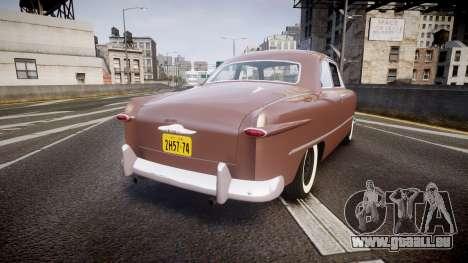Ford Business 1949 pour GTA 4 Vue arrière de la gauche