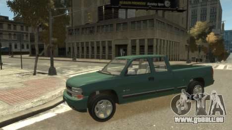 Chevrolet Silverado 1500 pour GTA 4 Vue arrière