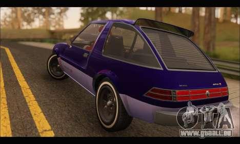 Declasse Rhapsody v2 (Fixed Extra) (GTA V) pour GTA San Andreas vue de droite
