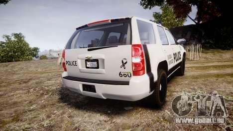 Chevrolet Tahoe 2010 Sheriff Dukes [ELS] für GTA 4 hinten links Ansicht