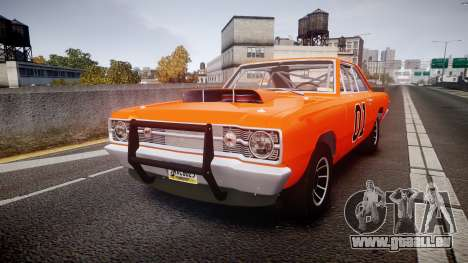 Dodge Dart HEMI Super Stock 1968 rims4 pour GTA 4