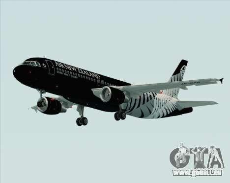 Airbus A320-200 Air New Zealand für GTA San Andreas obere Ansicht