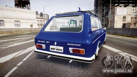 Volkswagen 1600 Variant 1973 für GTA 4 hinten links Ansicht