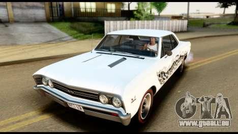 Chevrolet Chevelle SS 396 L78 Hardtop Coupe 1967 pour GTA San Andreas roue