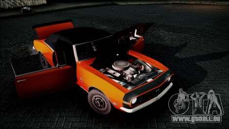 Chevrolet Camaro 350 pour GTA San Andreas vue arrière