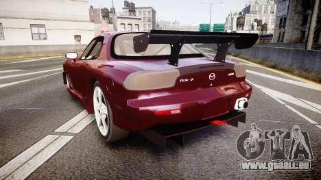 Mazda RX-7 Custom pour GTA 4 Vue arrière de la gauche