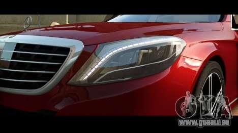 Mercedes-Benz S500 W222 pour GTA 4 est une vue de l'intérieur