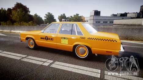 Ford Fairmont 1978 Taxi v1.1 pour GTA 4 est une gauche