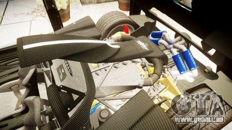 Pagani Zonda Cinque Roadster 2010 pour GTA 4 est une vue de l'intérieur