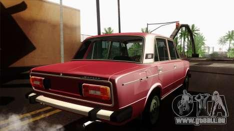 VAZ Lada 2106 v2 pour GTA San Andreas sur la vue arrière gauche