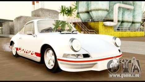 Porsche 911 Carrera 2.7RS Coupe 1973 Tunable für GTA San Andreas Innenansicht