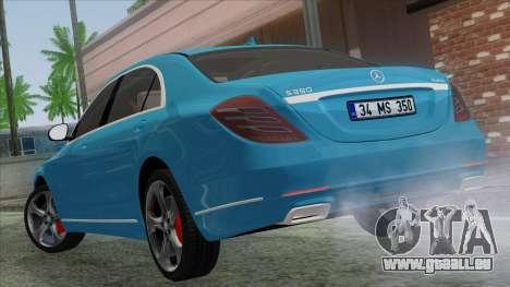 Mercedes-Benz S350 2015 Bluetec pour GTA San Andreas laissé vue