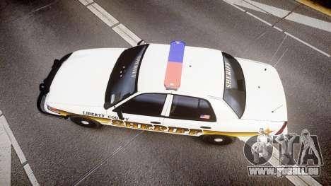 Ford Crown Victoria Sheriff Liberty [ELS] pour GTA 4 est un droit