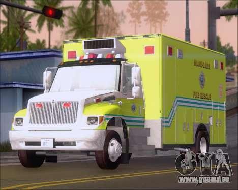 Pierce Commercial Miami Dade Fire Rescue 12 pour GTA San Andreas
