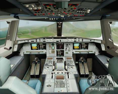 Airbus A380-800 Emirates (A6-EDH) pour GTA San Andreas vue intérieure