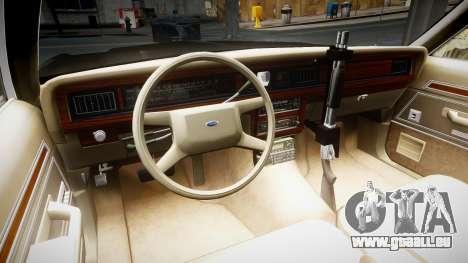 Ford LTD Crown Victoria 1987 LCPD [ELS] für GTA 4 Rückansicht