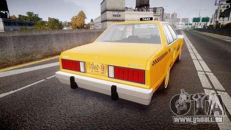 Ford Fairmont 1978 Taxi v1.1 pour GTA 4 Vue arrière de la gauche
