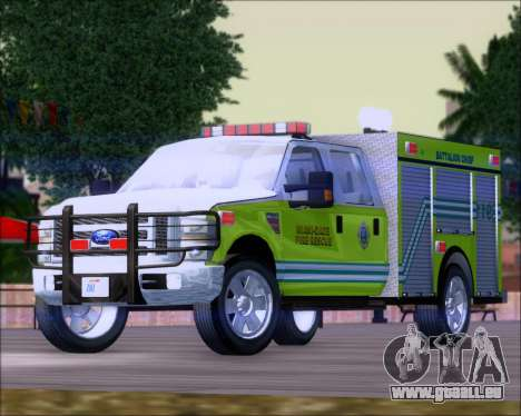 Ford F350 XLT Super Duty MDFD Batalion Chief 12 pour GTA San Andreas
