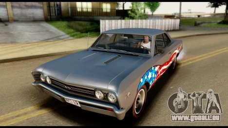 Chevrolet Chevelle SS 396 L78 Hardtop Coupe 1967 für GTA San Andreas Innen