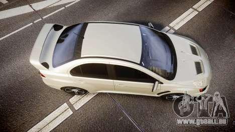 Mitsubishi Lancer Evolution X FQ400 pour GTA 4 est un droit