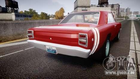 Dodge Dart HEMI Super Stock 1968 rims2 für GTA 4 hinten links Ansicht