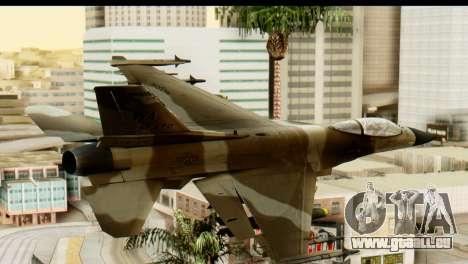 F-16 Fighter-Bomber Desert Camo pour GTA San Andreas laissé vue