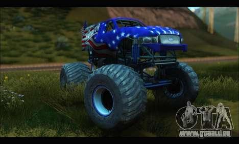 Monster The Liberator (GTA V) für GTA San Andreas Rückansicht