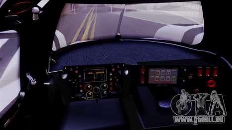 Porsche 919 Hybrid 2014 für GTA San Andreas Rückansicht