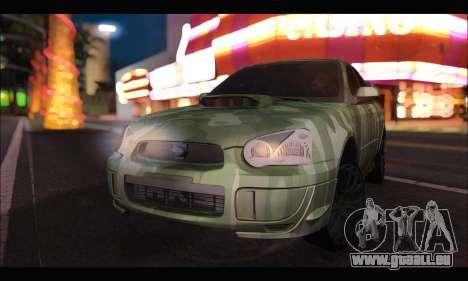 Subaru Impreza WRX Camo für GTA San Andreas