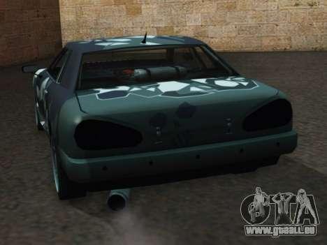 Elegy Korch pour GTA San Andreas sur la vue arrière gauche