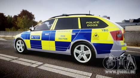 Skoda Octavia Combi vRS 2014 [ELS] Dog Unit für GTA 4 linke Ansicht