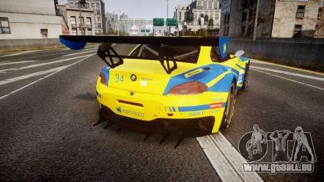 BMW Z4 GT3 2012 Northwest pour GTA 4 Vue arrière de la gauche