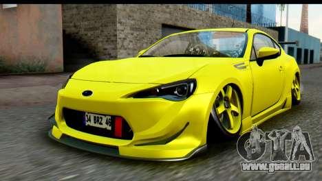 Subaru BRZ 2013 für GTA San Andreas